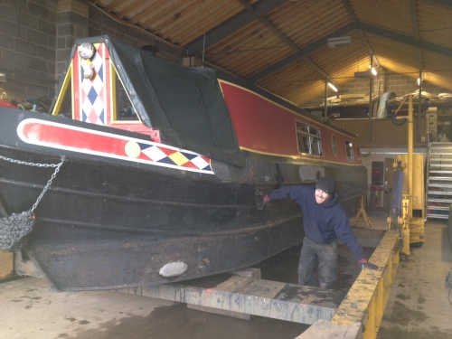 First Boat in the Workshop for Clean Sailing Ltd!